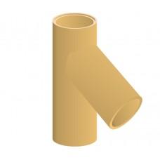 Тройник дымохода керамический Hart 45°