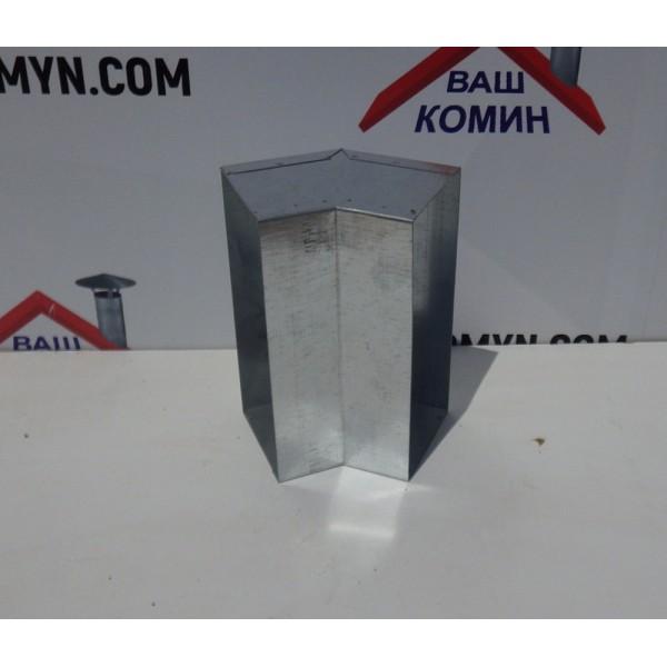 Колено 45 (вертикальное) прямоугольное для вентиляции