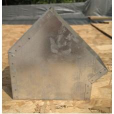 Колено 45 (горизонтальное) прямоугольное для вентиляции