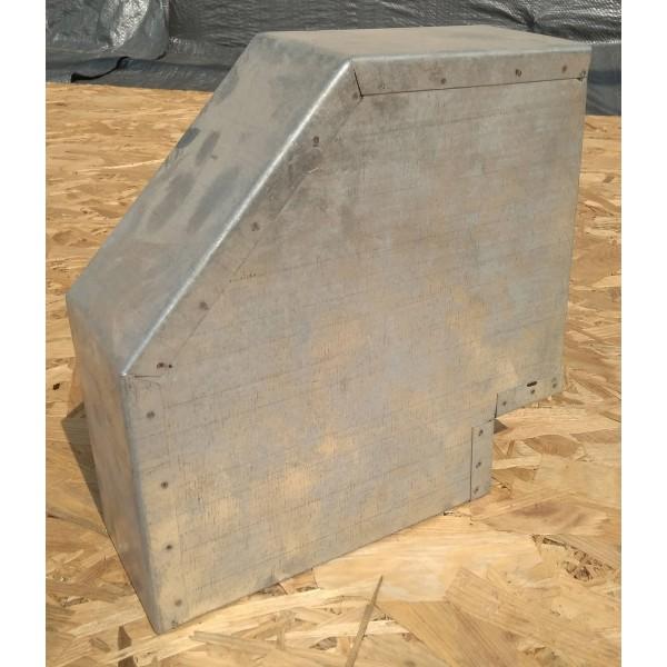 Колено 90 (горизонтальное) прямоугольное для вентиляции