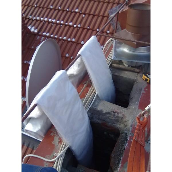 Рукав защитный для дымоходов алюком схема подключения дымохода газового котла
