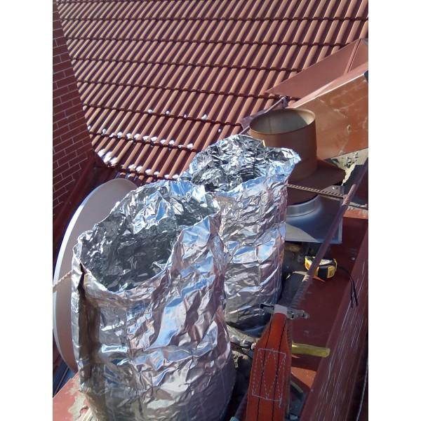 Рукав защитный для дымоходов алюком температура в дымоходе из печи