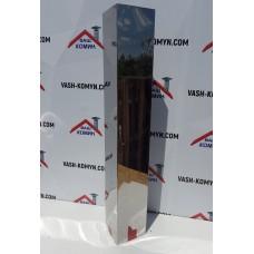 Короб прямоугольный из блестящей нержавейки (1 м)