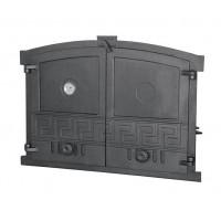 """Чугунные двери с термометром """"GRECJA"""" Halmat"""