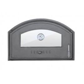 Дверцы из чугуна со стеклом и термометром DCHD3T