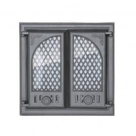 Дверцы на две створки со стеклом LITWA I Halmat