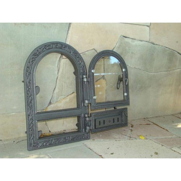 Спаренная дверка для печи со стеклом FPM1R Halmat