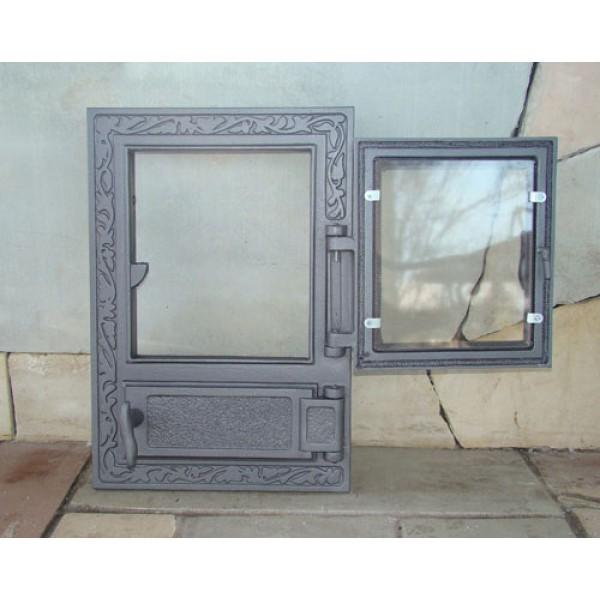 Двойные дверцы для печки со стеклом FPM2 Halmat