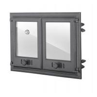 Двухстворчатая дверца со стеклом и термометромDCHP4Halmat