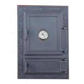 Двойные дверцы для печки с термометром DW12T Halmat