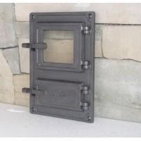 Спареные печные дверцы со стеклом DPK8 Halmat