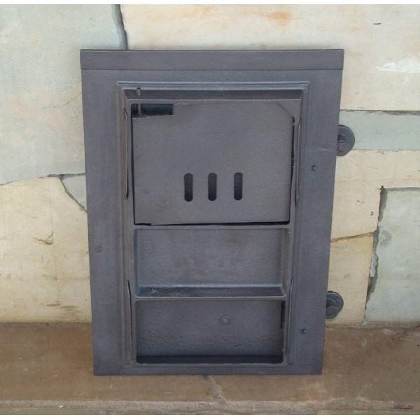 Спареная печная и зольная дверца DPK14 Halmat