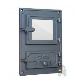Спареные печные дверки со стеклом DPK8R Halmat