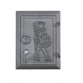 """Чугунная дверца с замком """"Трубочист"""" DKR4 Halmat"""