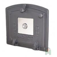 Чугунные дверки со стеклом и термометром для духовки Halmat