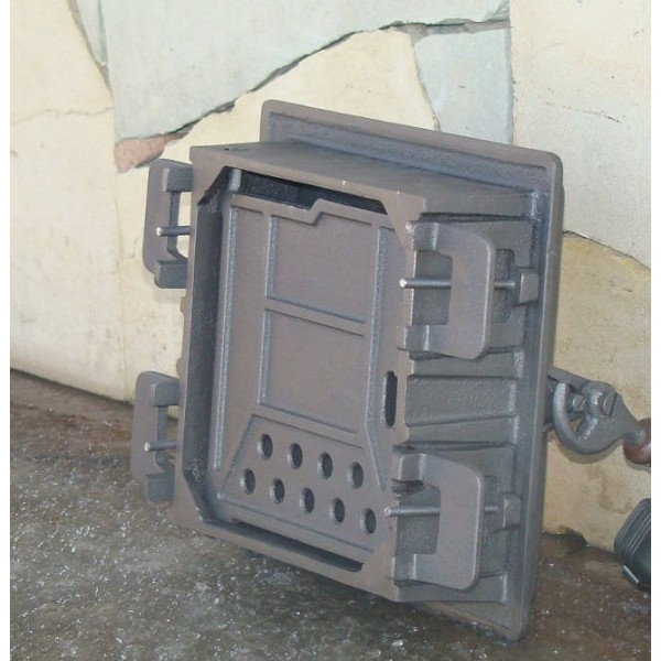Чугунная дверца с двойной крышкой WM Halmat