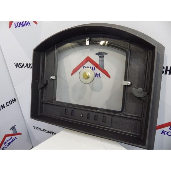 Дверцы из чугуна со стеклом и термометром HALMAT