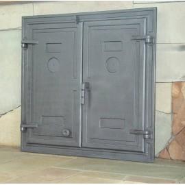 Большие чугунные двери DW3 Halmat