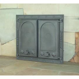 Печные дверцы на две створки DW7 Halmat