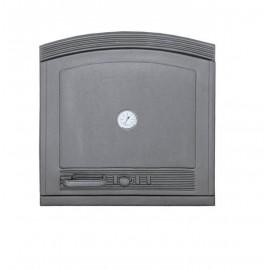 Глухие дверцы из чугуна с термометром DW5 Halmat