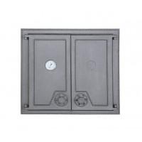 Печные двухстворчатые дверцы с термометром DW6 Halmat