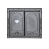 Печные дверцы на две створки с термометром DW7T Halmat