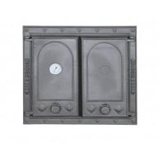 Дверцы для печи на две створки с термометром DW8T Halmat