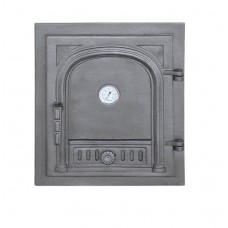 Глухие чугунные двери с термометром DW2T Halmat
