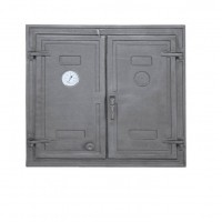 Большие чугунные двери с термометром DW3T Halmat