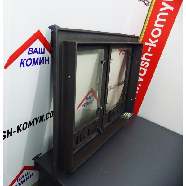 Двухстворчатая дверца со стеклом DCHP3Halmat