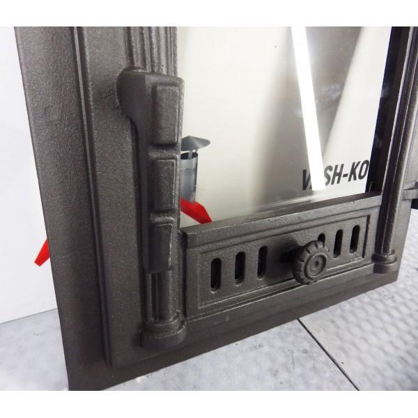 Чугунные двери со стеклом FPG2 Halmat