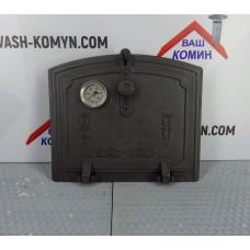 Чугунные дверки с термометром для духовки Halmat