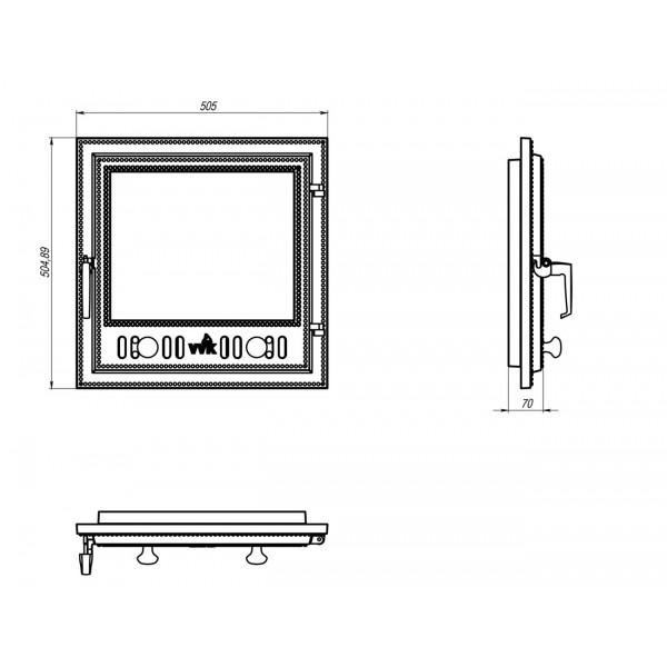 Чугунные каминные дверки (50,5 х 50,5 см)