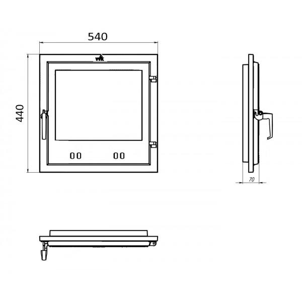 Чугунные дверки для камина (54 х 44 см)