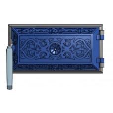 Чугунная дверца для зольников (25 х 13 см)