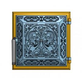 Дверца из чугуна глухая (25 х 25 см)