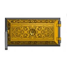 Чугунная зольная дверка (33 х 16 см)