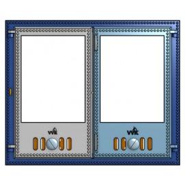 Двустворчатая дверца со стеклом (50 х 60 см)
