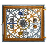 Декоративная дверца в печь (39.5 x 34.5 см)
