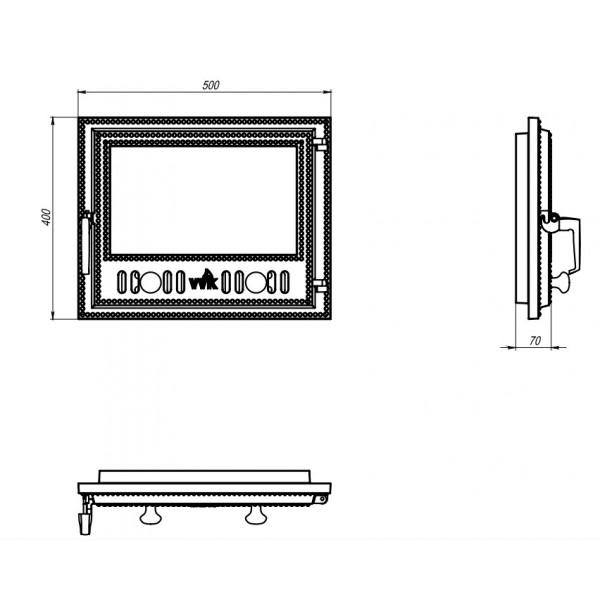Дверца для камина VVK (50 х 40 см)