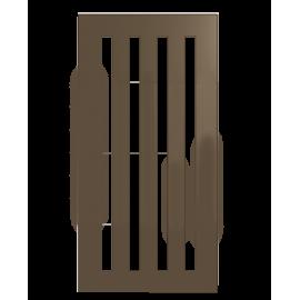 Колосниковая чугунная решетка 300 x 150 мм