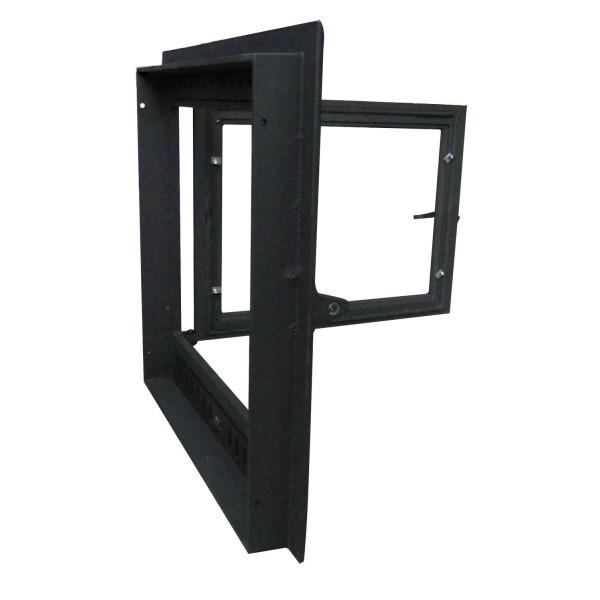 Дверца для камина со стеклом с самоочисткой