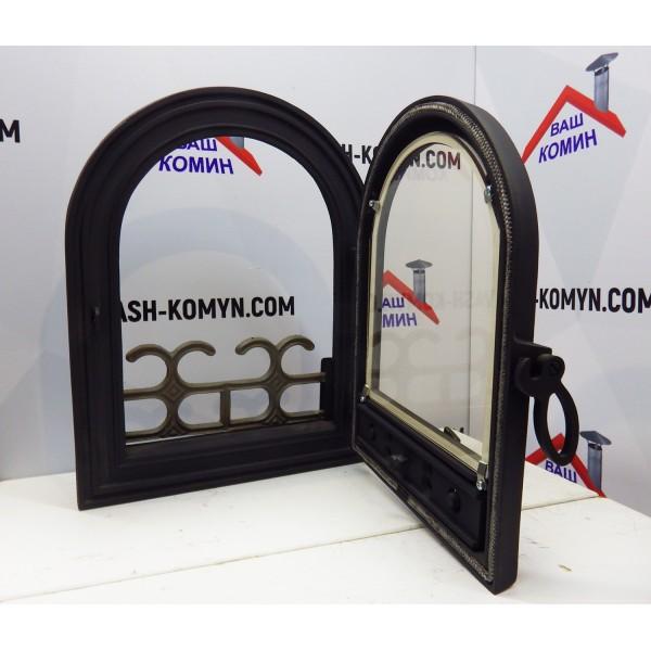 Дверь каминная со стеклом (36 х 46 см)