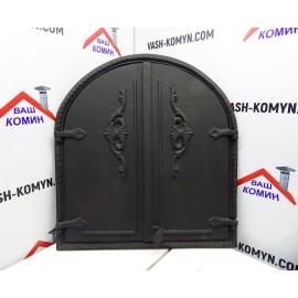 Дверцы для печей на две створки