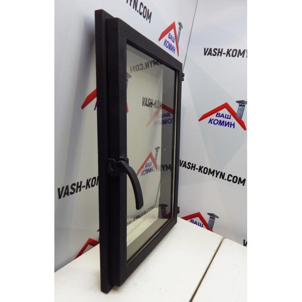 Каминная дверца со стеклом (40.5 х 59см)