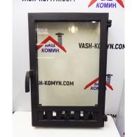 Стеклянная дверца для камина (40 х 59 см)