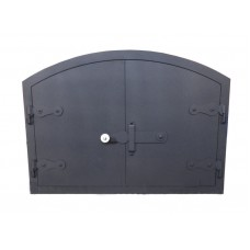 Дверка стальная на две створки