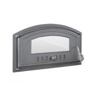 Чугунные двери со стеклом DCH3