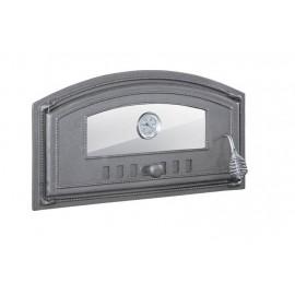 Чугунные двери со стеклом и термометром DCH3T
