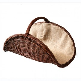 Плетеная корзина для дров